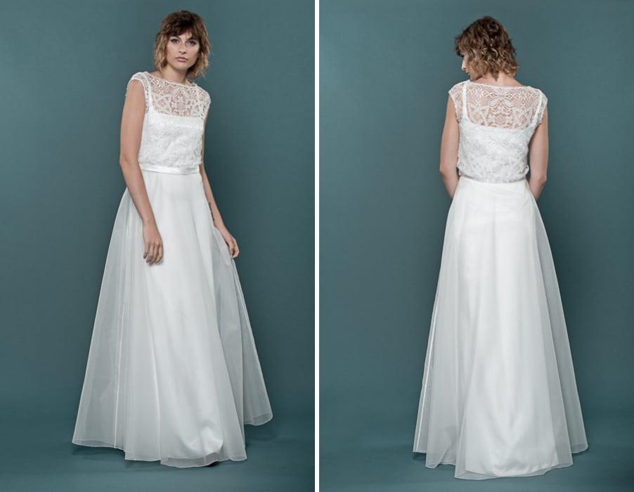 Brautkleid Hazel aus Organza und Seide von therese und luise