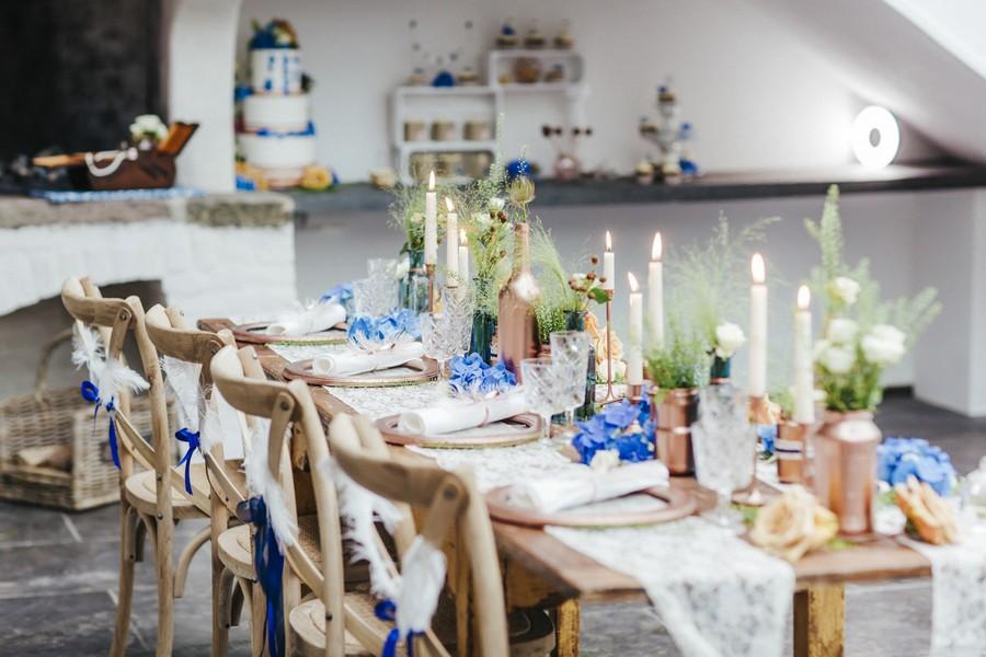 Herbstliche Hochzeitsinspiration In Blau Und Kupfer