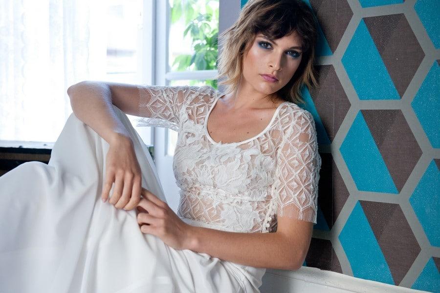 Für die romantische, urbane Braut: Die Kollektion 2017 von therese und luise - das Editorial-Shooting