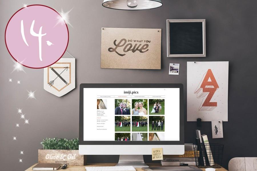 Gutschein für imiji.pics – euer Online-Tool zum Organisieren aller Hochzeitsfotos!