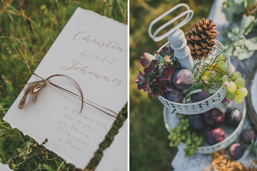 Hochzeitspapeterie für eine Hippie-Hochzeit