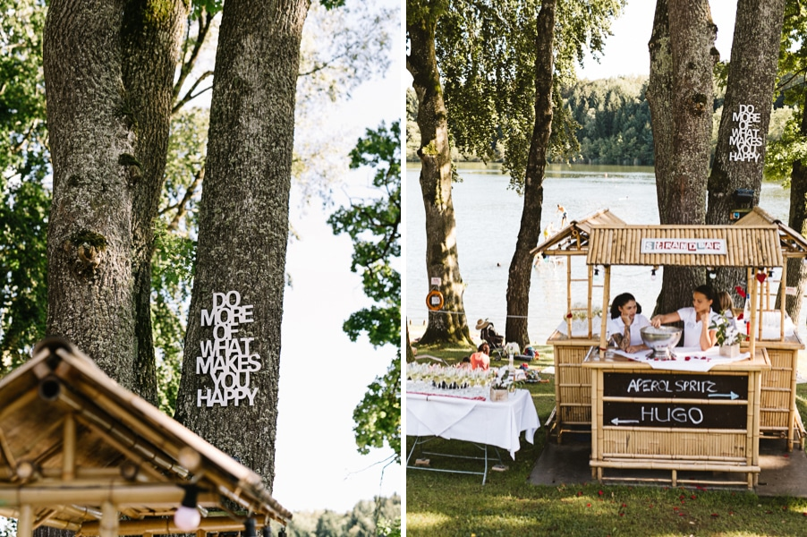 Gartenhochzeit mit freier Trauung direkt am See am Steinsee