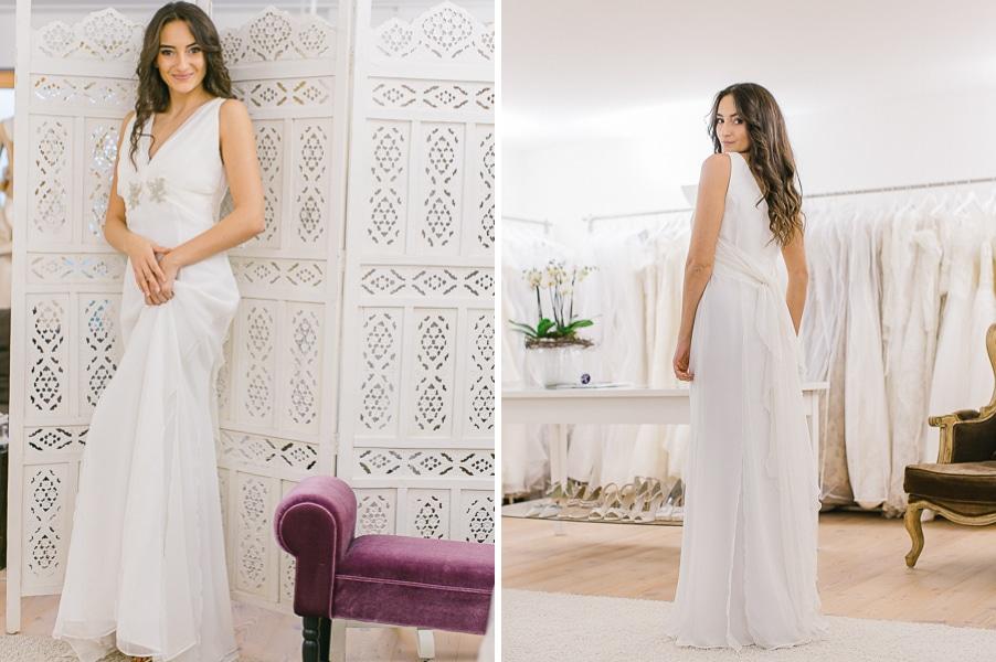 Klassisches Brautkleid im griechischen Stil