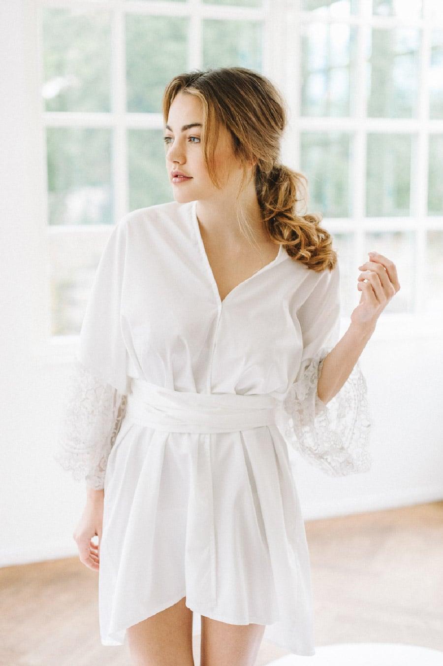 Kurzer Braut-Kimono von Sina Fischer