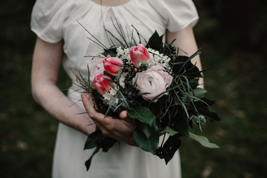 Brautstrauss mit Tulpen
