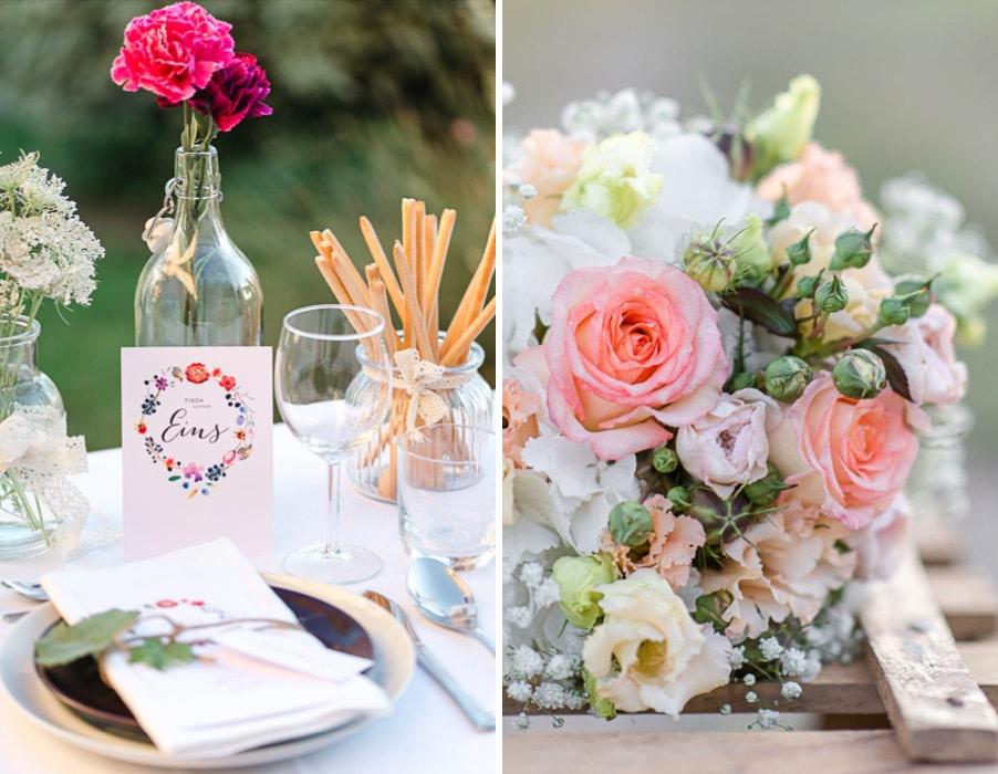 Inspiration für eine Boho-Hochzeit auf dem Land mit romantischer Papeterie