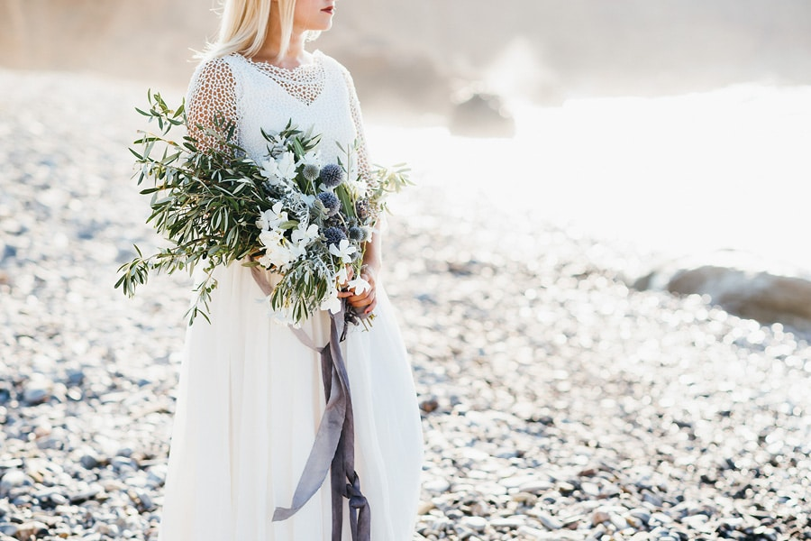 Großer Brautstrauss mit Olivenzweigen