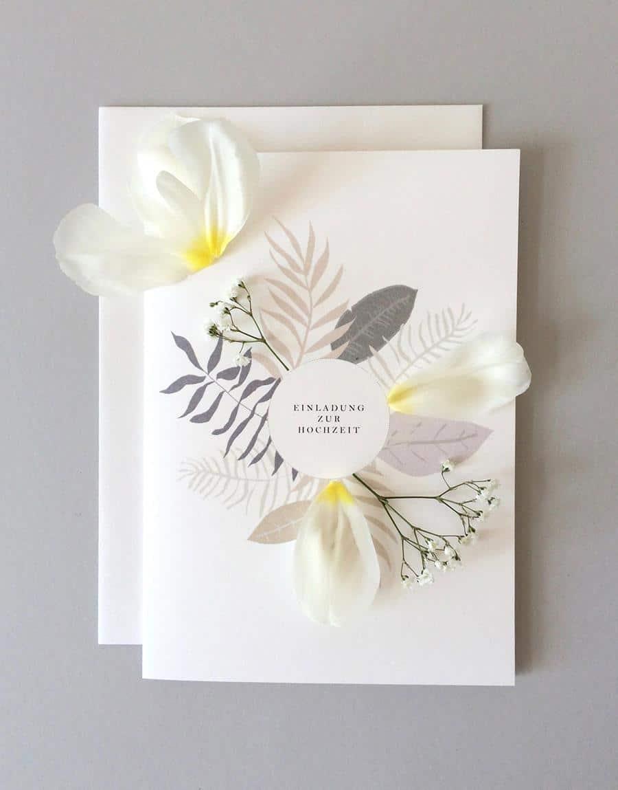 Hochzeits-Einladung und Papeterie von Sarah Gudelius