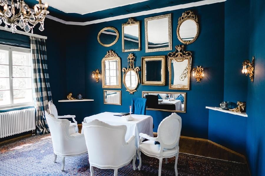 Allgäu: Der Blaue Salon im Jagdhaus Oberstdorf