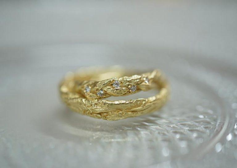 """Ringe aus Gold auf Basis von Schokolade-Verpackung - die Serie """"von Herzen von Fingerglück"""""""