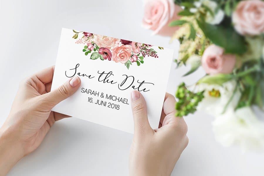 Vintage Hochzeitseinladungen und Dankeskarten von Denise Perrine Design Papeterie