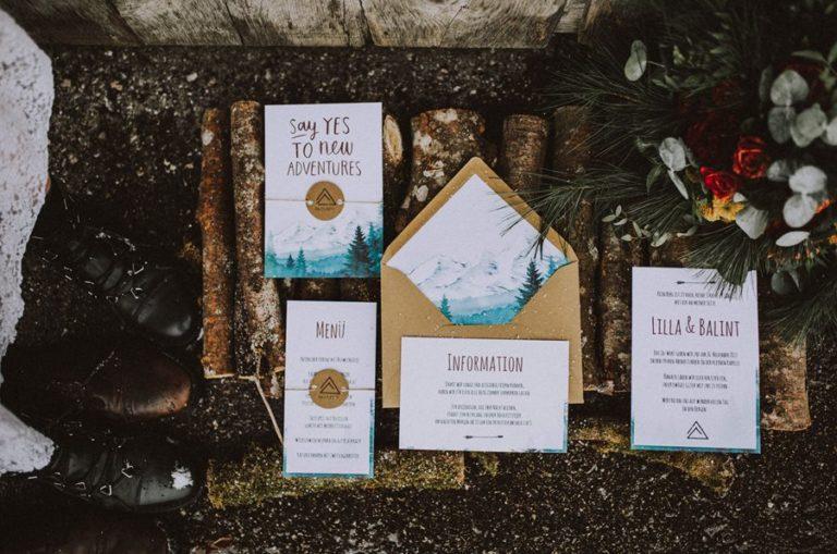 Moderne und schlichte Hochzeitseinladungen und Dankeskarten von Denise Perrine Design Papeterie