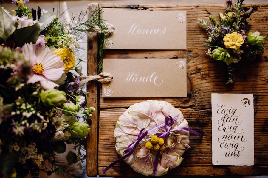 Inspirationen für eine Hochzeit im rustikal-romantischen Stil