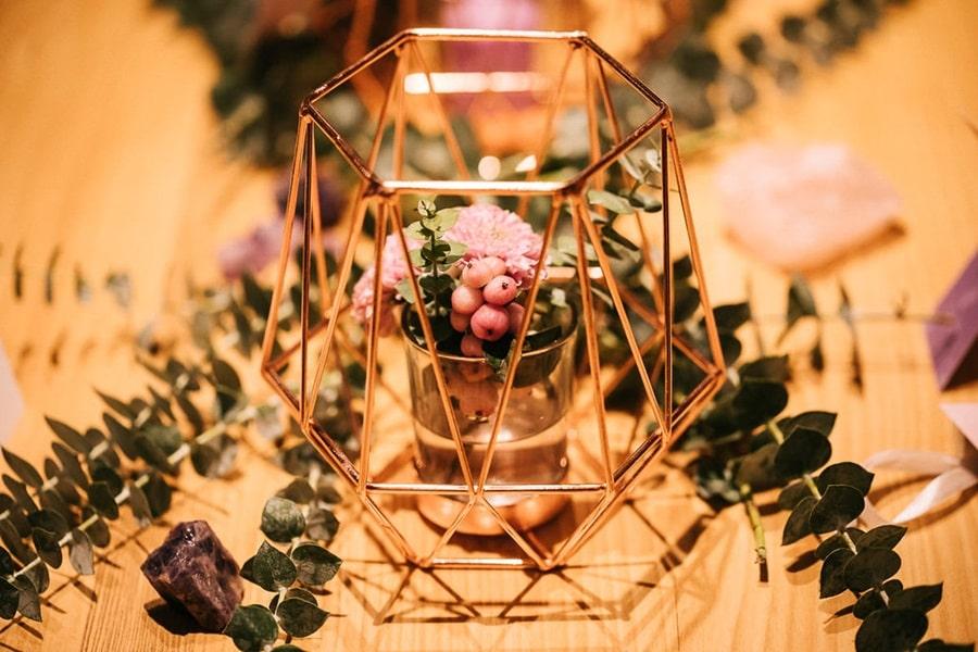 Hochzeits-Inspiration mit Kristallen