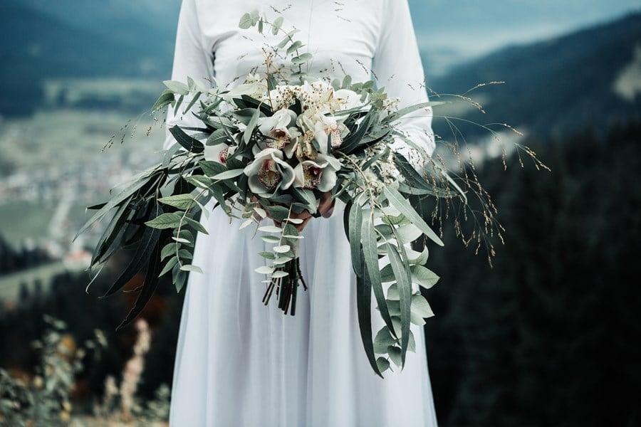 Brautstrauss mit Orchideen