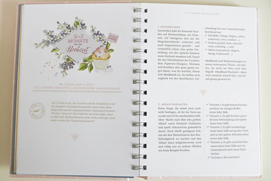 """Das Buch zum Blog Hochzeitsgezwitscher: Unser Hochzeitsplaner """"Komm wir trauen uns"""" aus dem Pattloch-Verlag"""