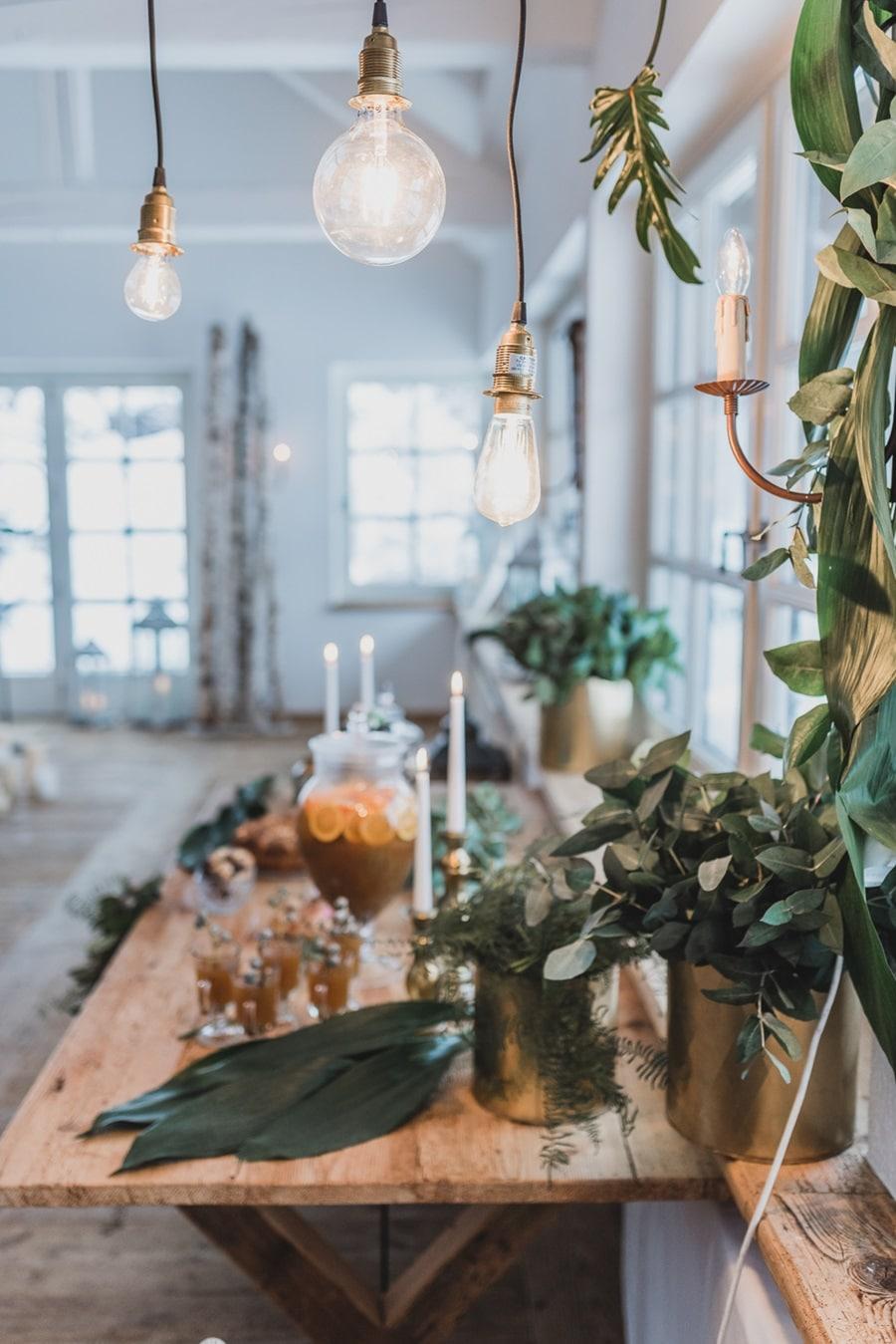 Ideen für eine elegante Hochzeit in Grün und Gold