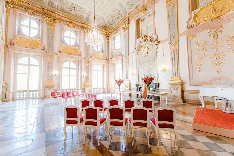Salzburg: Das Standesamt im Schloss Mirabell