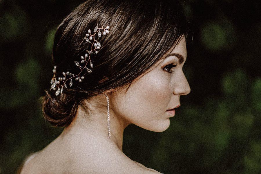 Glamour-Brautstyling für den dramatischen Look