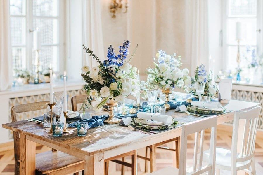 Glamourose Blau Weiss Gold Inspiration Im Bamberger Haus Munchen