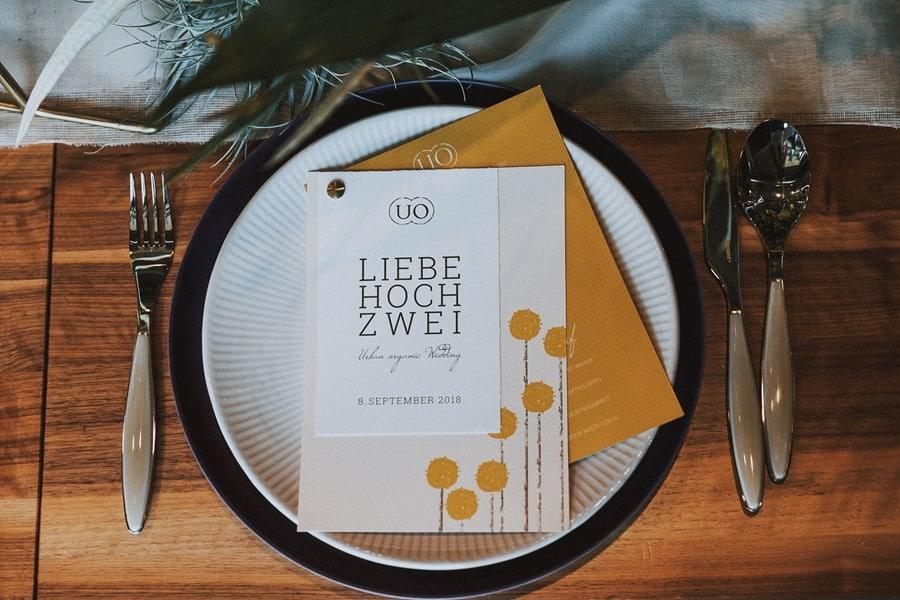Ideen für eine urbane Loft-Hochzeit in Gelb