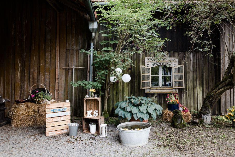 DIY-Hochzeit in der Scheune von Aumühle