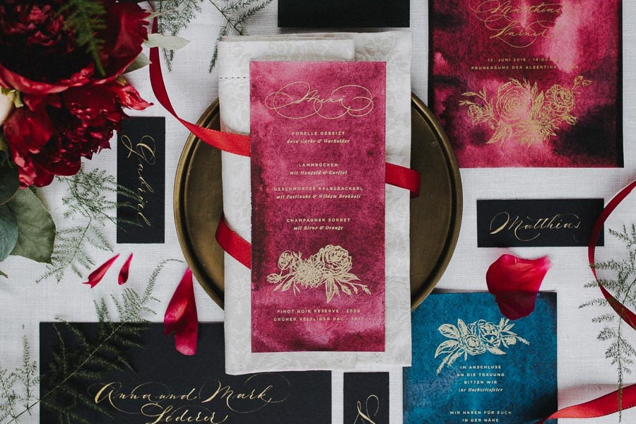 Inspiration für eine prunkvolle Hochzeit in der Albertina Wien