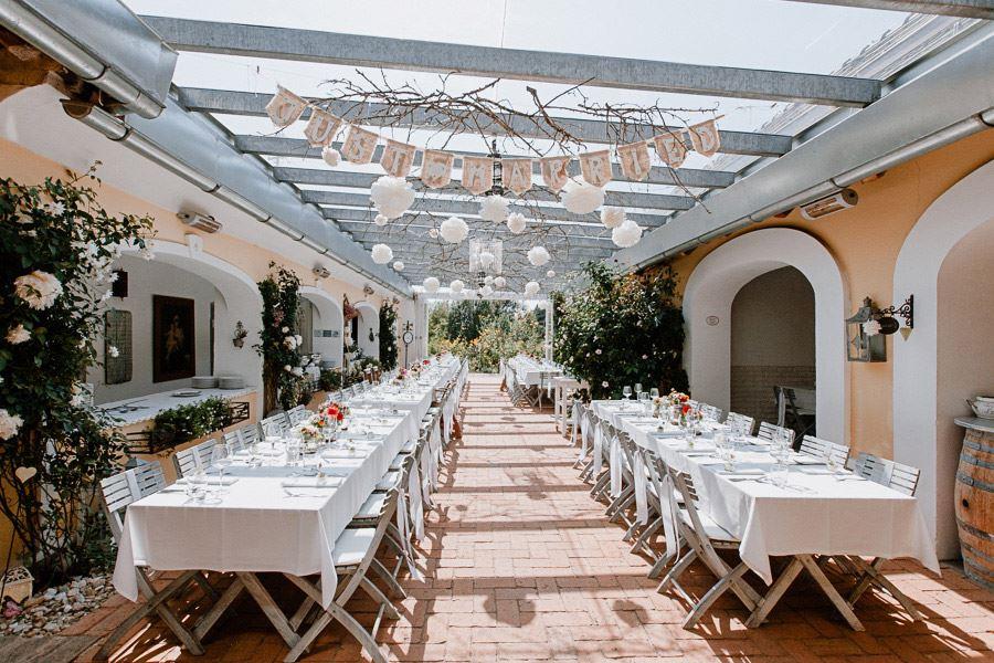 Süße Spätsommer-Hochzeit in der Träumerei im Burgenland