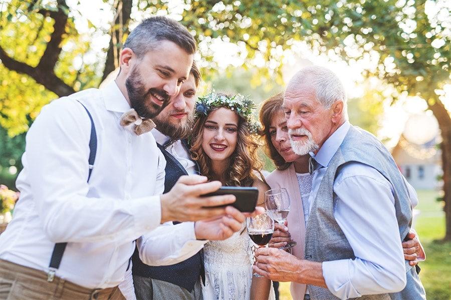 Hochzeitsfotos teilen und online sammeln mit der imiji-App