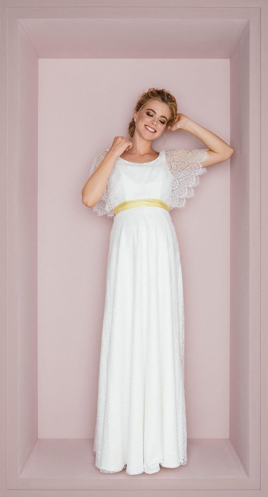 Hochzeitskleider für Schwangere in kurz und lang