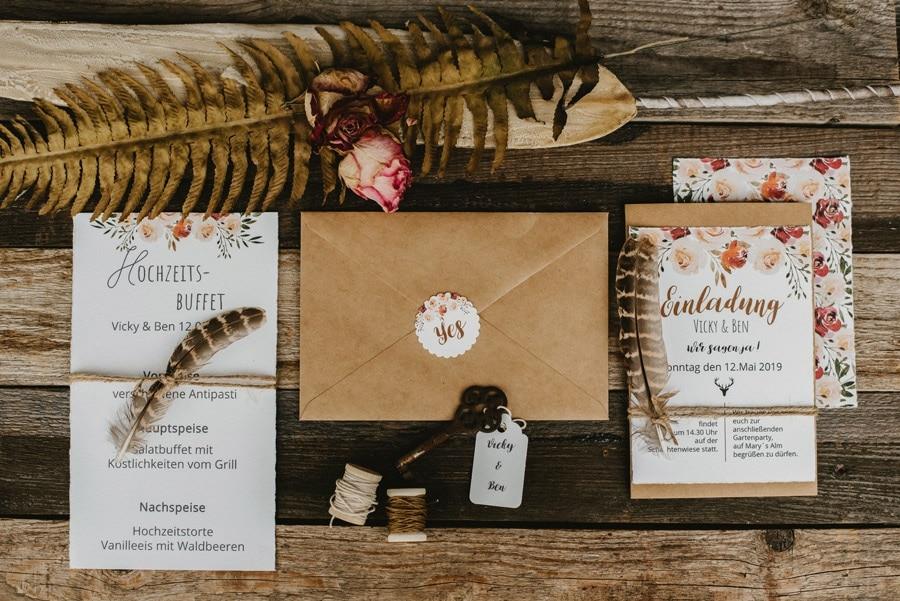 Inspiration für eine Boho-Hochzeit im Bayerischen Wald