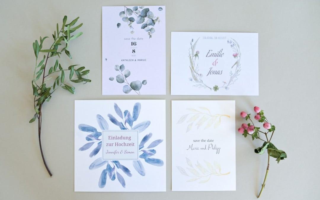 Moderne Hochzeitseinladungen im Blog-Shop individuell gestalten