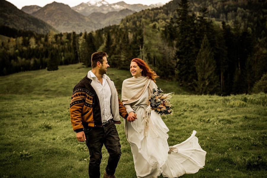 Nachhaltige Hochzeit zu zweit in den Bergen